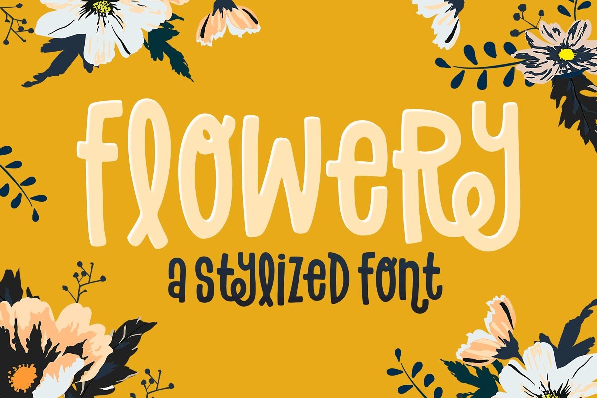 Flowery Font