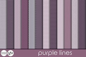 Purple digital paper: PURPLE LINES