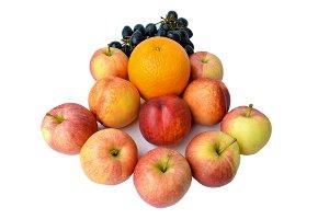 Fresh juicy fruit isolated on white.
