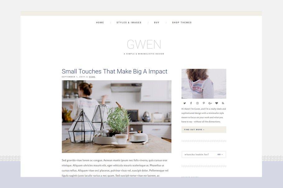 Gwen - Responsive WordPress Theme