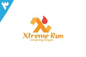 Xtreme Run - Letter X Logo