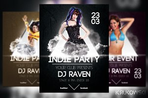 Black Indie Party Flyer