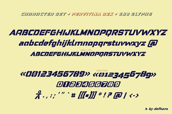 Pervitina Dex -2 fonts- in Sans-Serif Fonts - product preview 2