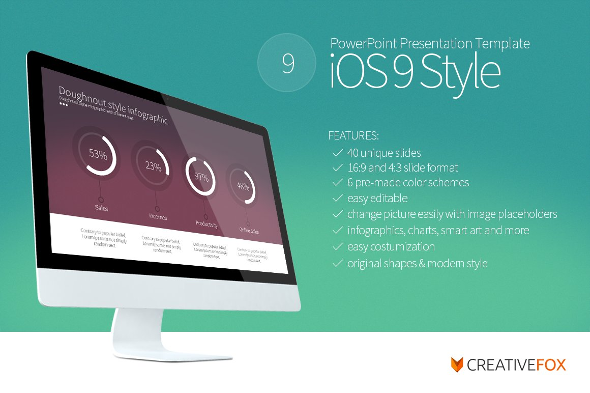 50 stunning presentation templates you wont believe are powerpoint ios 9 style powerpoint template toneelgroepblik Gallery