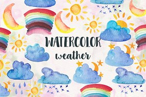 Watercolor Weather