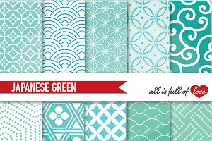 Mint Green Background Patterns
