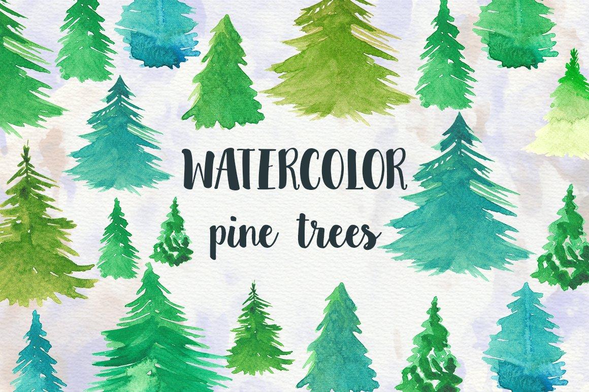 Watercolor Pine Trees ~ Illustrations ~ Creative Market