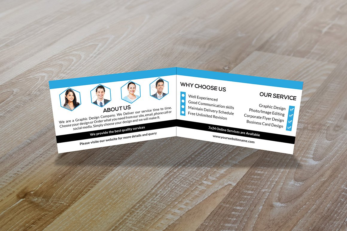 Folded Business Card Vol-1 ~ Business Card Templates ~ Creative Market