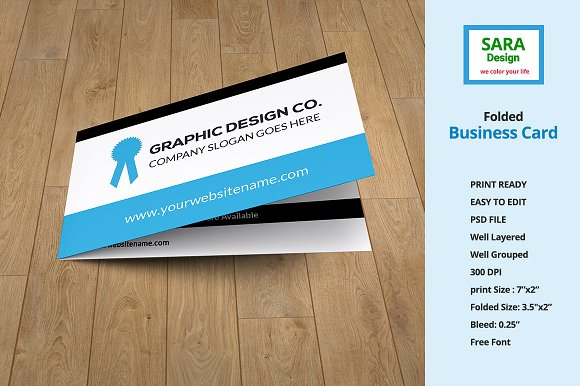 folded business card vol 1 business card templates creative daddy