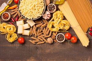 various italian pasta