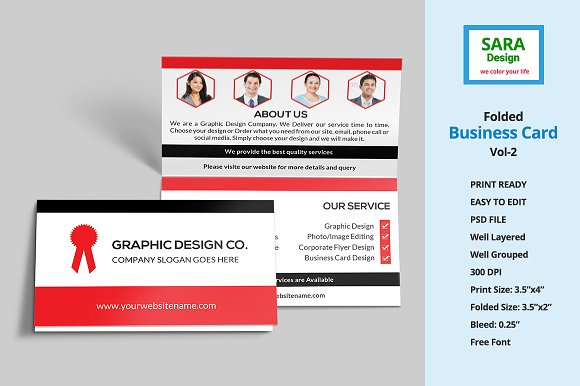 folded business card vol 2 business card templates creative market