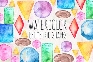 Watercolor Geometric Shapes