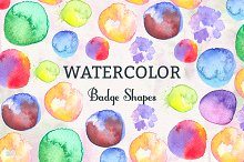 Watercolor Badge Shapes