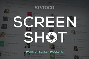 Screen Shot – Monitor Screen Mockups