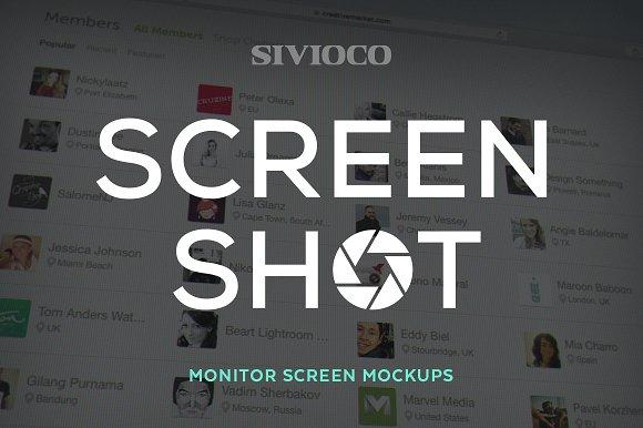 Download Screen Shot – Monitor Screen Mockups - free Download Mockup
