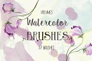 117 Watercolor Brushes