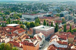 Skyline of Ljubljana, Slovenia