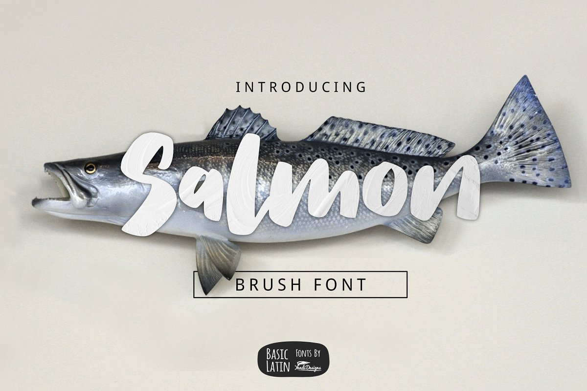Salmon Brush Font in Sans-Serif Fonts - product preview 8
