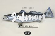 Salmon Brush Font