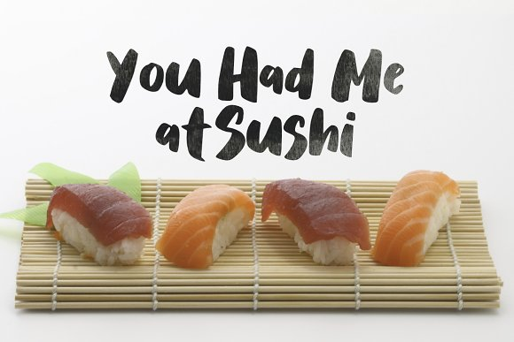 Salmon Brush Font in Sans-Serif Fonts - product preview 3