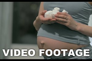 Pregnant Woman's Belly Baby Booties