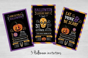 3 Halloween invitations