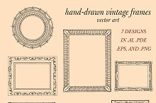 Hand Drawn Frames Vector Art