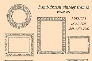 Hand Drawn Frames Vector Art