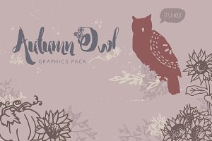 Autumn Owl Graphics Pack