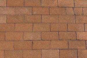 Terracotta paving slabs