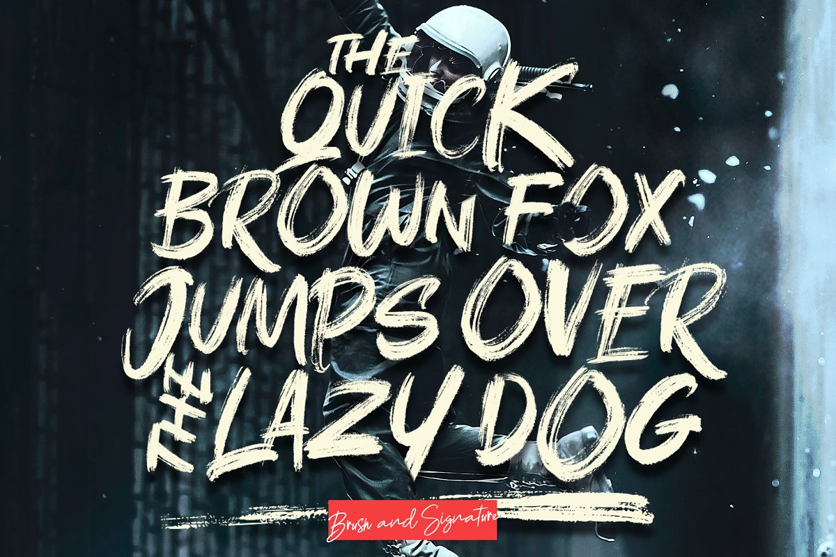 Rushink Font Duo   Brush & Signature in Blackletter Fonts - product preview 8