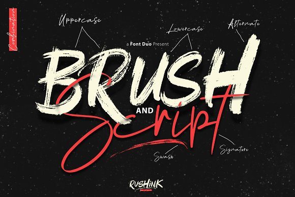 Rushink Font Duo   Brush & Signature in Blackletter Fonts - product preview 1