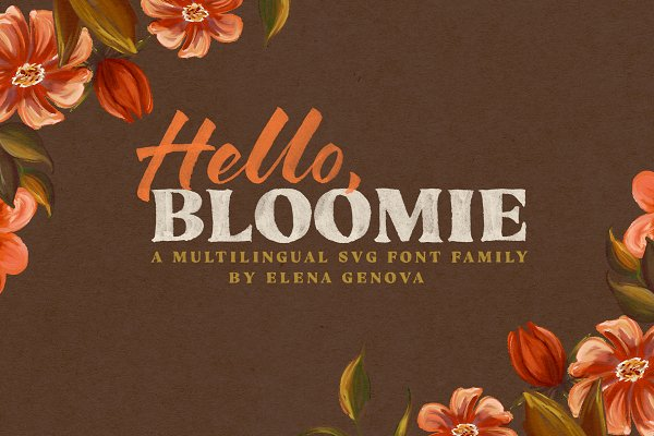 Hello Bloomie SVG Font Family