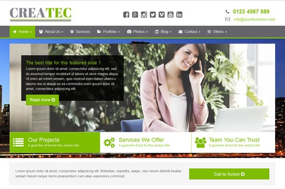 Createc business website template htmlcss themes creative market createc business website template htmlcss accmission Choice Image