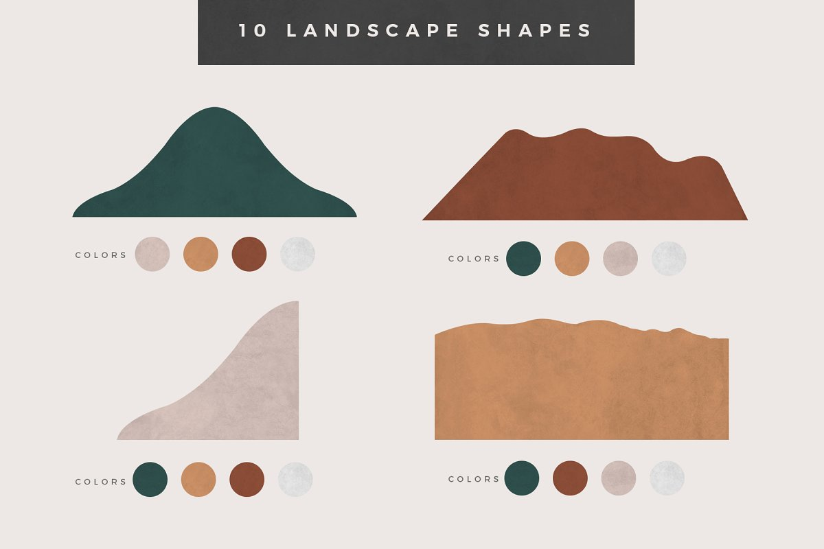 Landscape Creation Kit in Illustrations - product preview 1