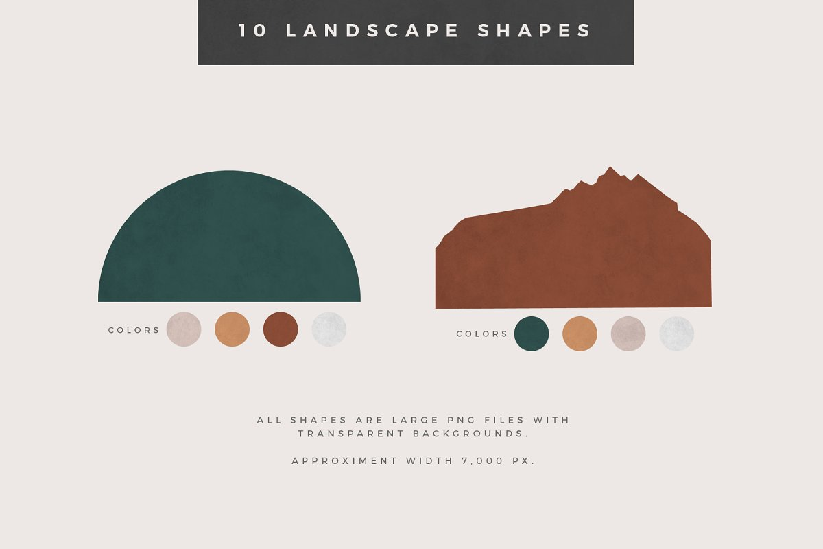 Landscape Creation Kit in Illustrations - product preview 3