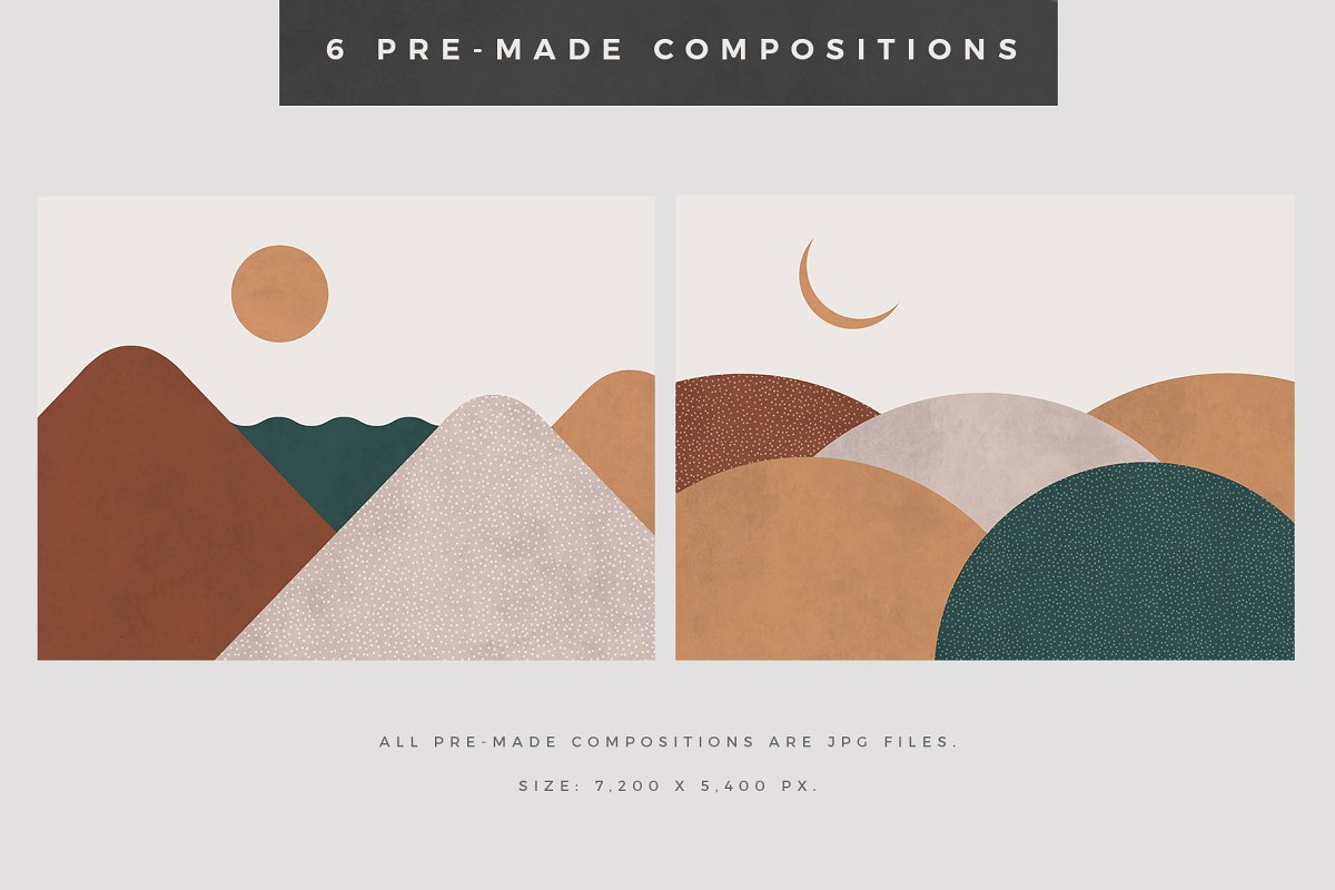 Landscape Creation Kit in Illustrations - product preview 5