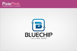 Blue Chip Logo Template