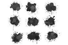 Black ink blobs