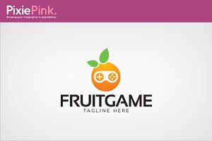 Fruit Game Logo Template