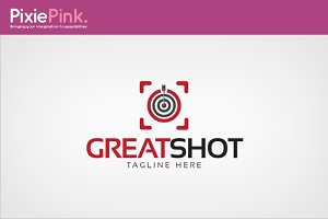 Great Shot Logo Template