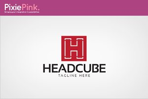 Head Cube Logo Template