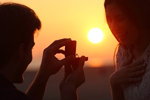 Back light of a proposal of marriage at sunset.jpg