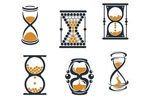 Sandglass symbols