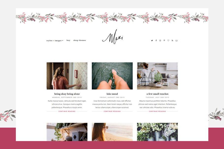 Mari - Responsive WordPress Theme