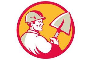 Construction Worker Spade Circle Ret
