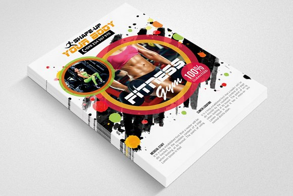 Fitness Gym PSD Flyer Templates in Flyer Templates - product preview 1