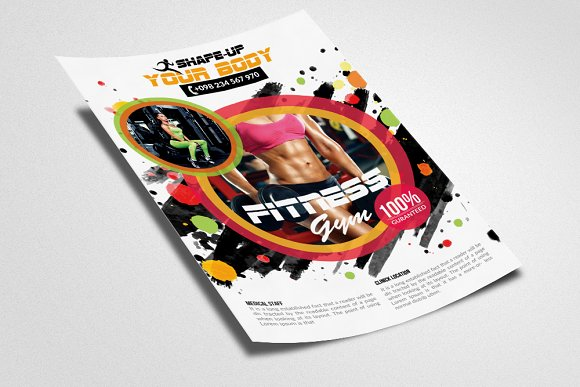 Fitness Gym PSD Flyer Templates in Flyer Templates - product preview 2