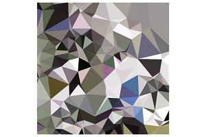 Davy Grey Abstract Low Polygon Backg