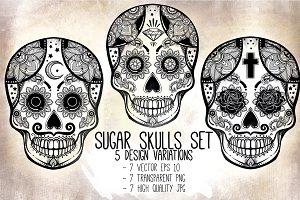 Sugar Skulls Set: Day Of The Dead